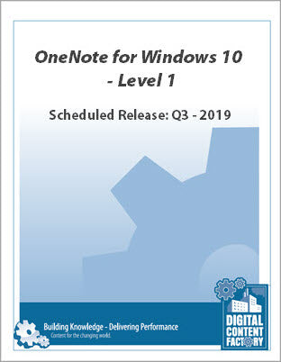 OneNote for Windows 10 - Level 1 (1 day)