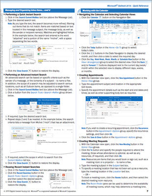 Outlook 2019 - Quick Reference