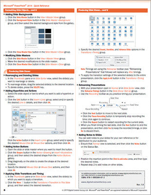 PowerPoint 2019 - Quick Reference