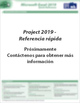 Project 2019 - Referencia rápida