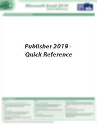 Publisher 2019 - Quick Reference | Q2 - 2021