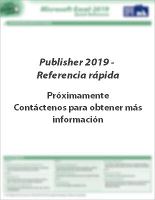 Publisher 2019 - Referencia rápida