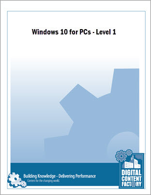 Windows 10 for PCs - Level 1 (1 day) - Digital Delivery