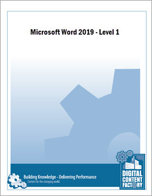 Word 2019 - Level 1 (1 day) - Digital Delivery