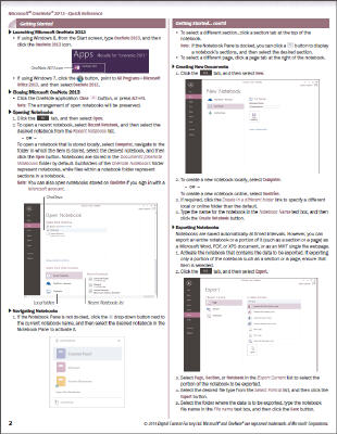 OneNote 2013 - Quick Reference Guide