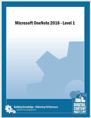 OneNote 2016 - Level 1 course