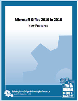 Office 2010 to 2016 - New Features course
