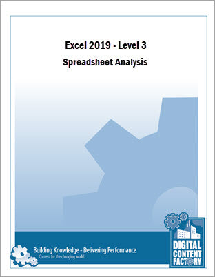 Excel 2019 - Level 3 - Spreadsheet Analysis (1 day)
