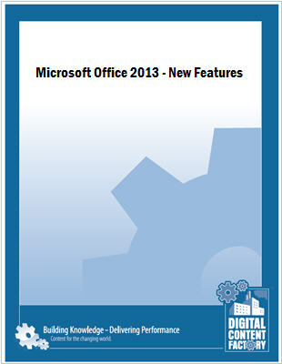 Office 2013 - New Features course