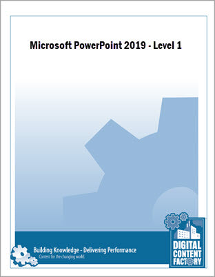 PowerPoint 2019 - Level 1 (1 day) - Digital Delivery
