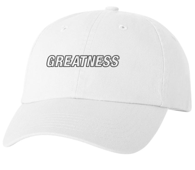 Greatness Dad Hat - White