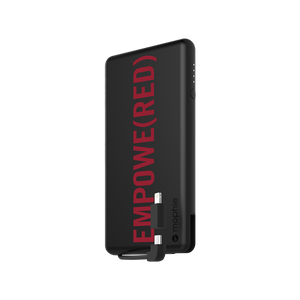 mophie - Powerstation Plus Power Bank 6,000 mAh for Micro USB and Apple Lightning Devices - Product Red
