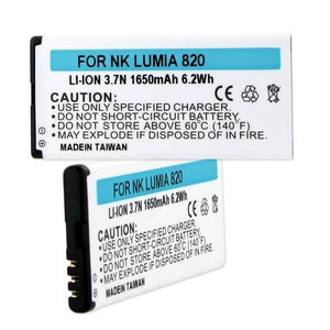 NOKIA LUMIA 820 3.7V 1650mAh LI-ION BATTERY