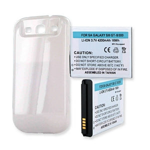 SAMSUNG GALAXY S III 4200mAh EXTENDED BATTERY WITH NFC AND COVER