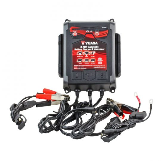 6/12v 2 Amp Automatic Battery Charger & Maintainer - Two Bank