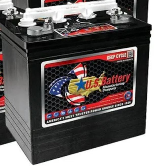 8V 160 AH US Battery - Black