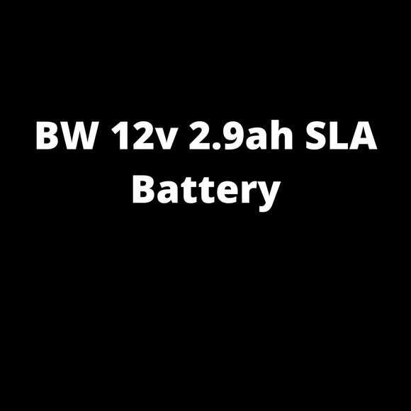 BW 12v 2.9ah SLA Battery