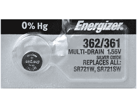 Energizer 362 Silver Oxide Battery