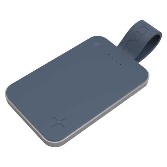 TYLT - FlipCard Power Bank for Apple Lightning Devices 5,000 mAh - Gray