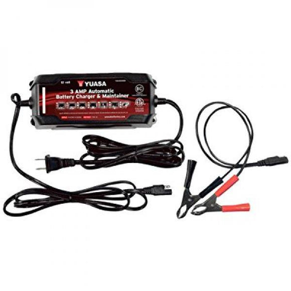 12v 3 Amp Automatic Battery Charger & Maintainer