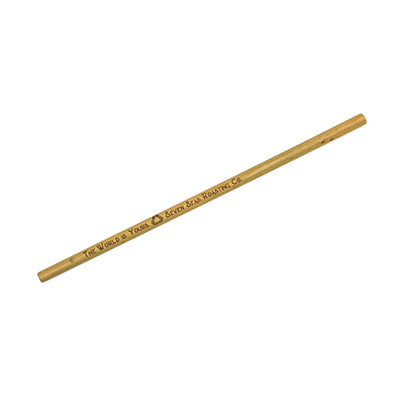 bamboo straw with seven seas logo engrave onto the side