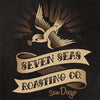 sticker of seven seas roasting with bird on top