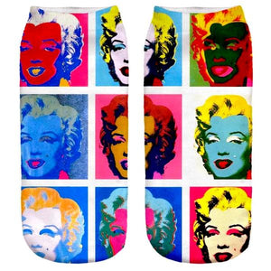 Cool Pop Art Marilyn Monroe Fashion Socks by SayItWithSocks.co