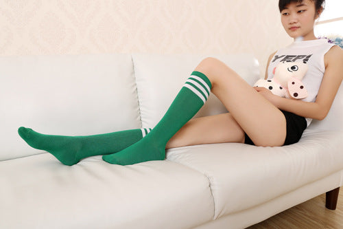 Cute Classic Striped Women's Knee High Socks by SayItWithSocks.co
