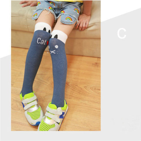 Cute Princess Striped Knee High Socks for Kids
