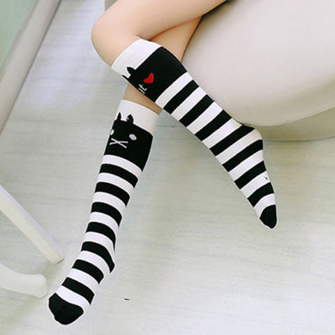 Image of Cute Princess Stripes Knee High Socks for Kids by SayItWithSocks.co