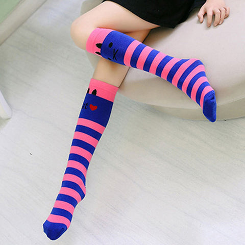 Cute Princess Stripes Knee High Socks for Kids by SayItWithSocks.co
