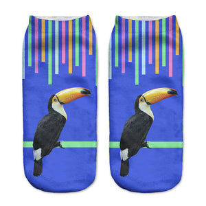 Toucan Printed Lovely Women's Ankle Socks by SayItWithSocks.co
