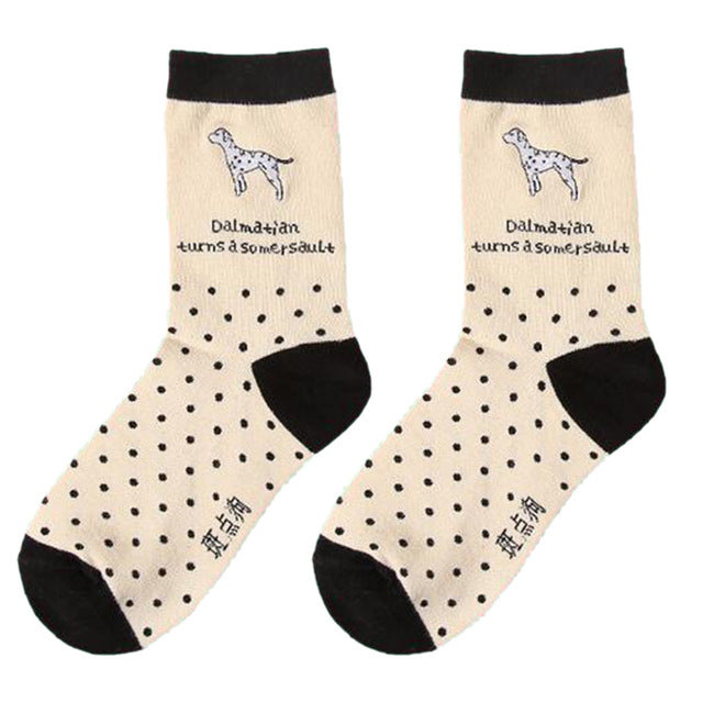 Colorful Dog Printed Men's Crew Socks by SayItWithSocks.co
