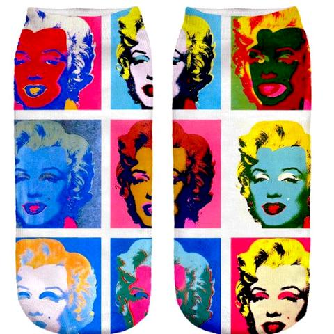Cool Pop Art Marilyn Monroe Fashion Socks