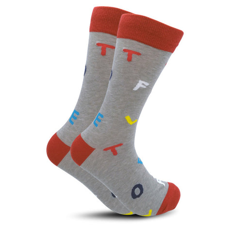 Cool Alphabet Men's and Women's Crew Socks