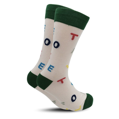 Cool Alphabet Men's and Women's Crew Socks by SayItWithSocks.co