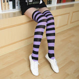 Lovely Long Striped Women's Knee High Socks