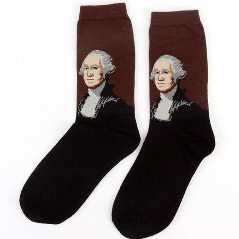Image of George Washington History Men's Crew Socks by SayItWithSocks.co