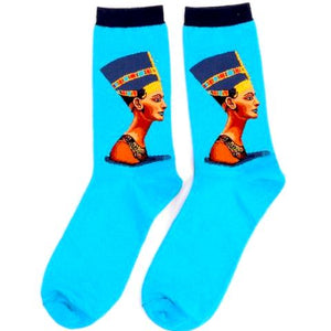 Lovely Egyptian Bust Women's Crew Socks by SayItWithSocks.co