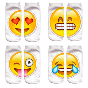 Emoji Printed Lovely Women's Ankle Socks by SayItWithSocks.co