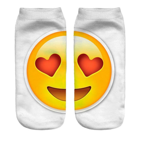 Image of Emoji Printed Lovely Women's Ankle Socks