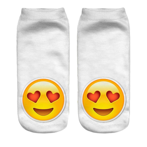 Image of Emoji Printed Lovely Women's Ankle Socks by SayItWithSocks.co