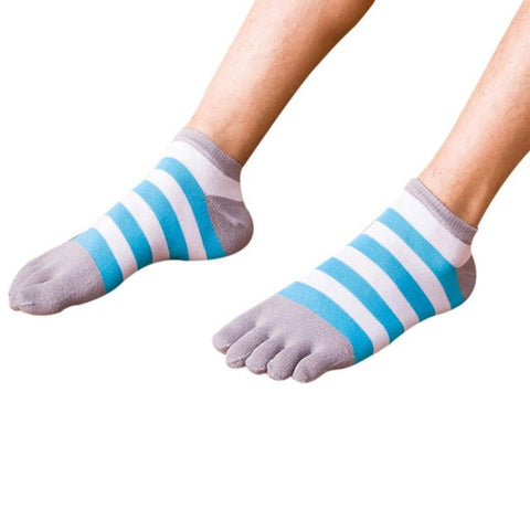 Funny Striped Five Finger Toe Socks for Women by SayItWithSocks