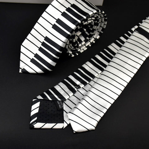 Black White Plaid Music Note Tie by SayItWithSocks.co