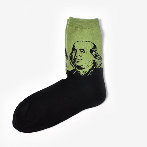 Ben Franklin History Men's Crew Socks by SayItWithSocks.co