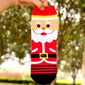 Lovely Santa Claus Christmas Ankle Socks by SayItWithSocks.co