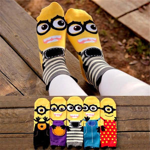 Funny and Cool Minions Cartoon Kids Socks
