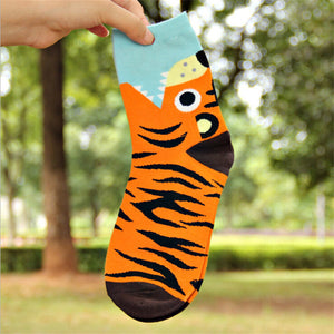 Animal Bite Printed Cozy Women's Crew Socks by SayItWithSocks.co