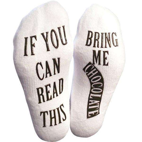 """Bring Me Chocolate"" Printed Cool Women's Ankle Socks"