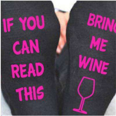 """If You Can Read This, Bring Me ... "" Funny Women's Crew Socks"